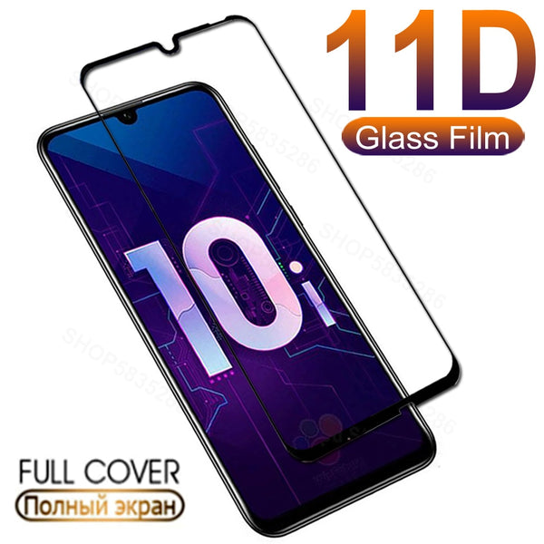 11D Protective Glass For Huawei honor 10 Lite 20 Pro 10i 20i Tempered Screen Protector On Honor 8X 8A 8C 8S 9A 9C 9S Glass Film