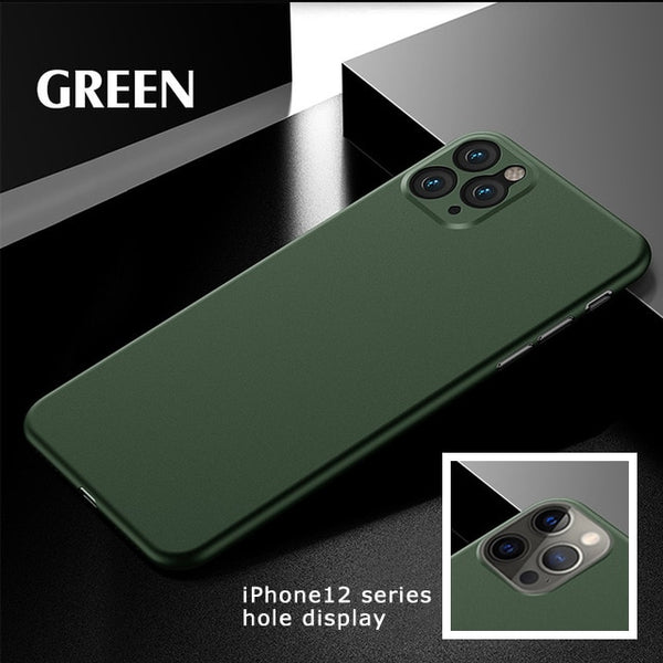 Luxury Ultra Thin Phone Case For iPhone 11 12 Pro Max 12Mini X XR XS Max SE 2020 iPhone 6 6s 7 8 Plus Back Cover Matte PP Case