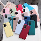 Candy Color Silicone Phone Case For samsung galaxy A12 A42 A52 A72 A32 5G M02S A02S M31s Matte Soft Tpu Back Cover Fundas Coque
