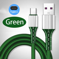 Mobile Phone Cable USB Type C For Xiaomi Samsung Smartphone Charge Cord Micro USB Data Cable Fast Cellphone Charger Nylon Cable