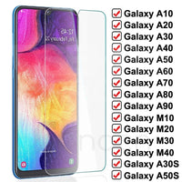 9D Protective Glass On For Samsung Galaxy A10 A20 A30 A40 A50 A60 A70 A80 A90 Tempered Glass Samsung M10 M20 M30 M40 Screen Film