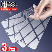 3PCS Tempered Glass For Samsung Galaxy A7 A8 A6 J4 J8 J6 Plus 2018 Screen Protector For Samsung A50 A51 A71 A70 A5 A9 2018 Glass