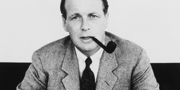 Photograph of David Ogilvy espousing the value of paying more to get more