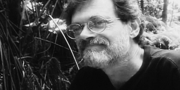 Photograph if Terence McKenna who tells us engineers of the future are poets