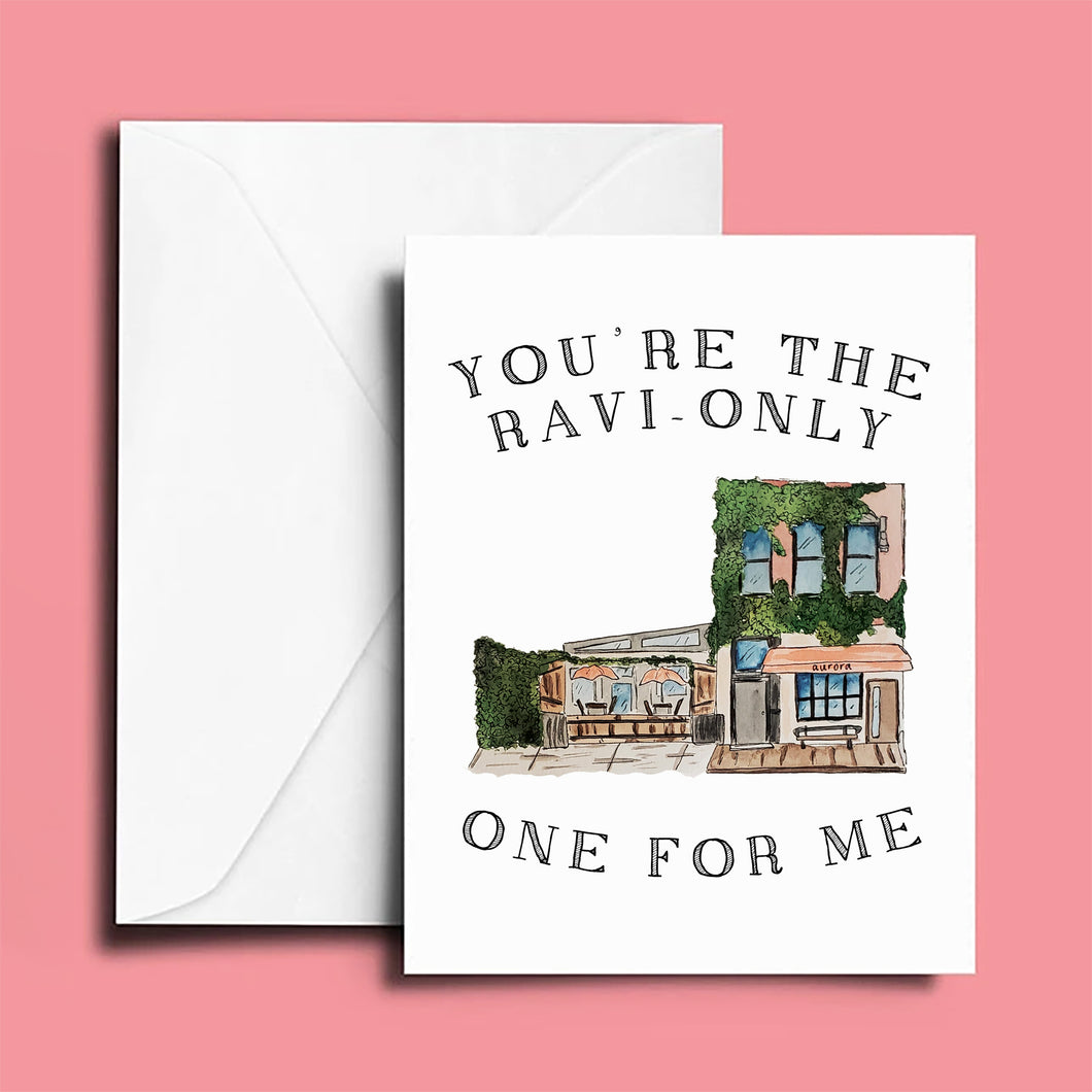 Anniversary Card: Aurora; You're the Ravi-only One for me