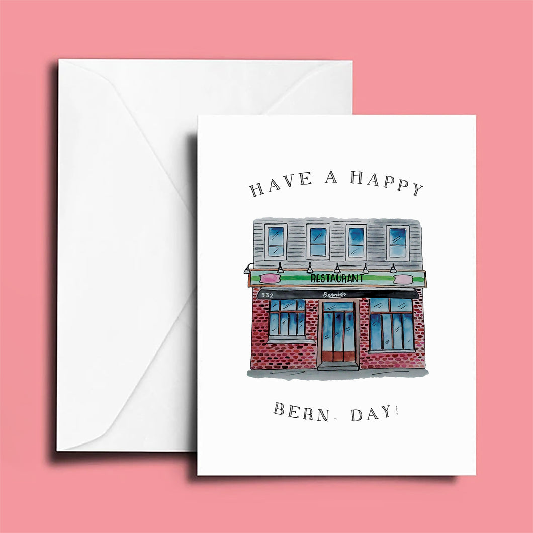 Birthday Card: Bernies; Have a Happy Bern-Day