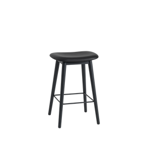 Open image in slideshow, Fiber Stool / Wood Base (Upholstered Seat)