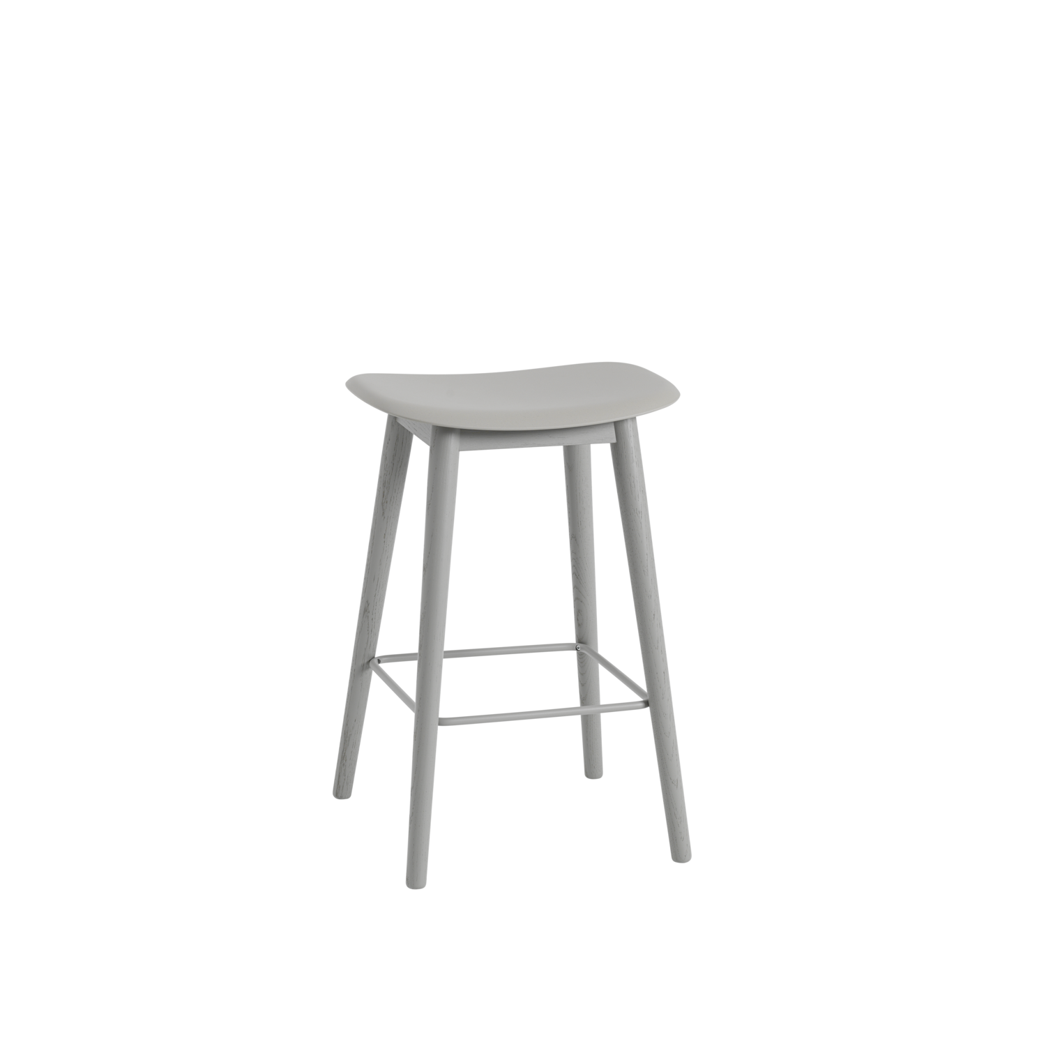 Fiber Stool / Wood Base