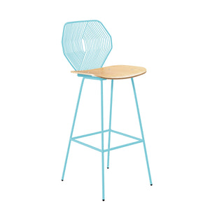 Open image in slideshow, Wood and Wire Stool