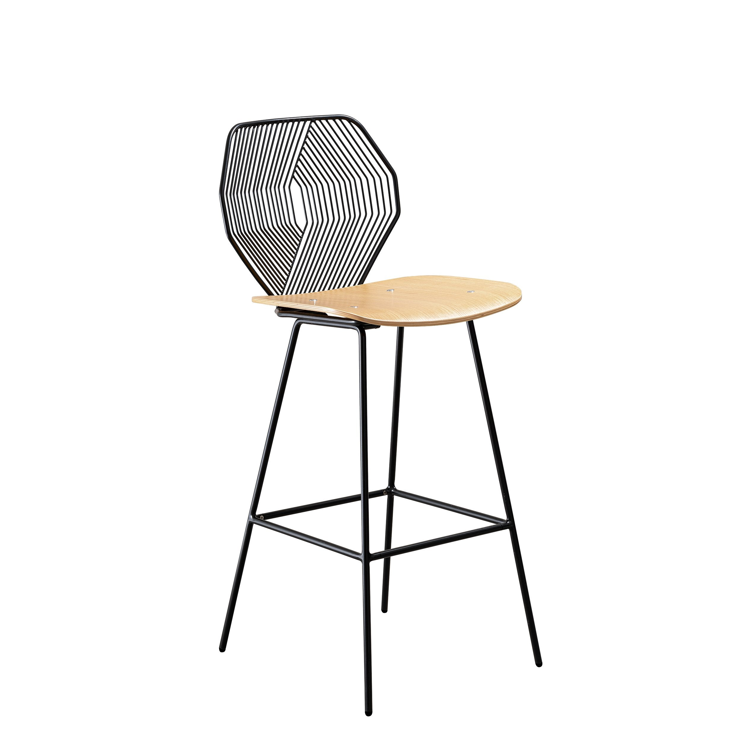 Wood and Wire Stool