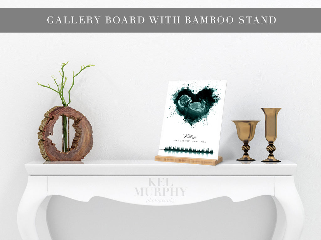 Gallery boards with bamboo stands print upgrade for ultrasound and embryo designs living room decor