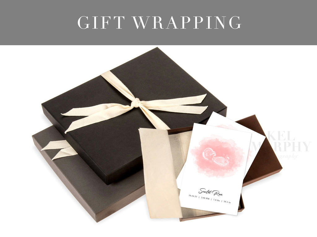 Gift wrapping for prints custom ultrasound art embryo sonogram designs