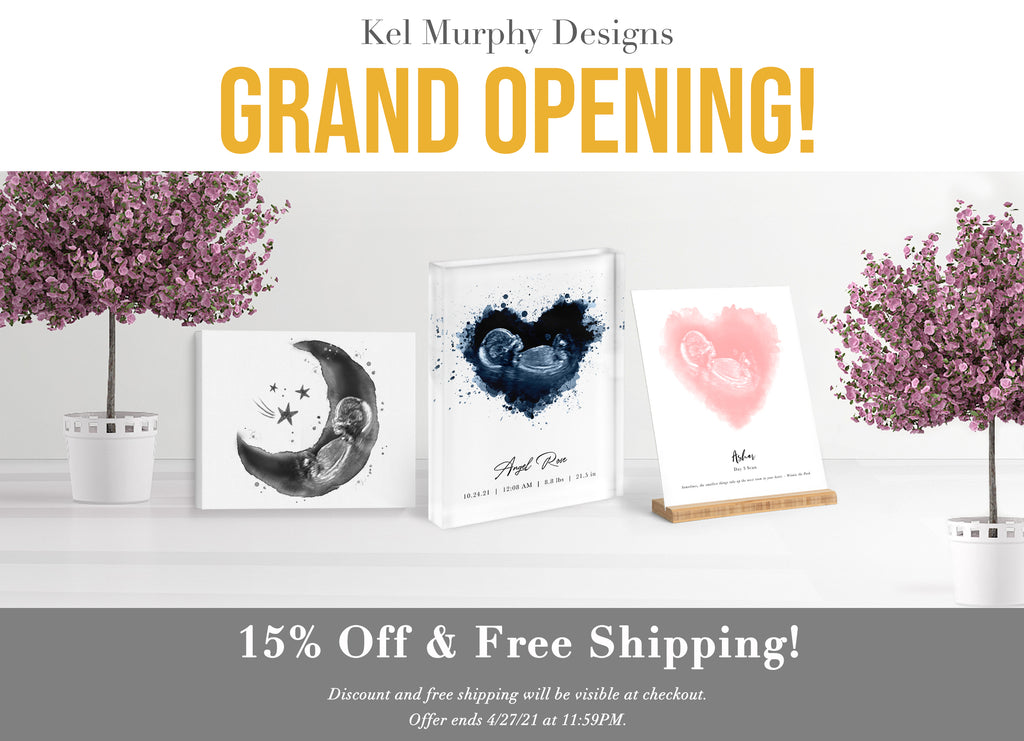Kel Murphy Designs Grand Opening 15% off discount and free shipping
