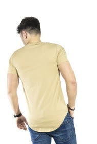 Y-SHIRT MANCHES COURTES CAMEL