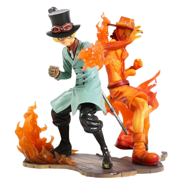 Figurine One Piece de Sabo et Ace