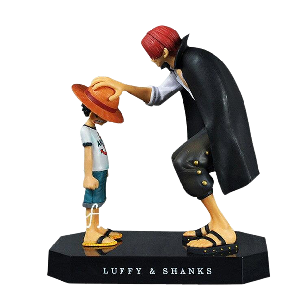 Figurine One Piece de Luffy & Shanks