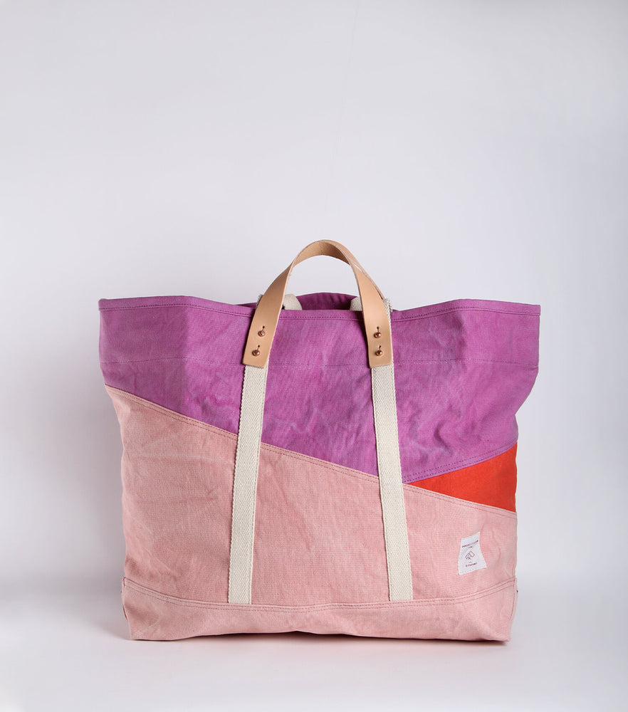 Bicolor East West Tote