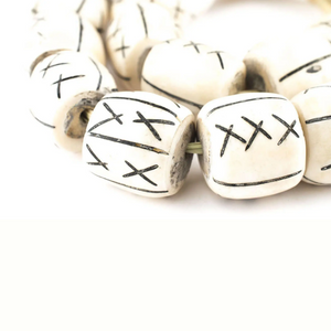 Barrel X Bone Beads