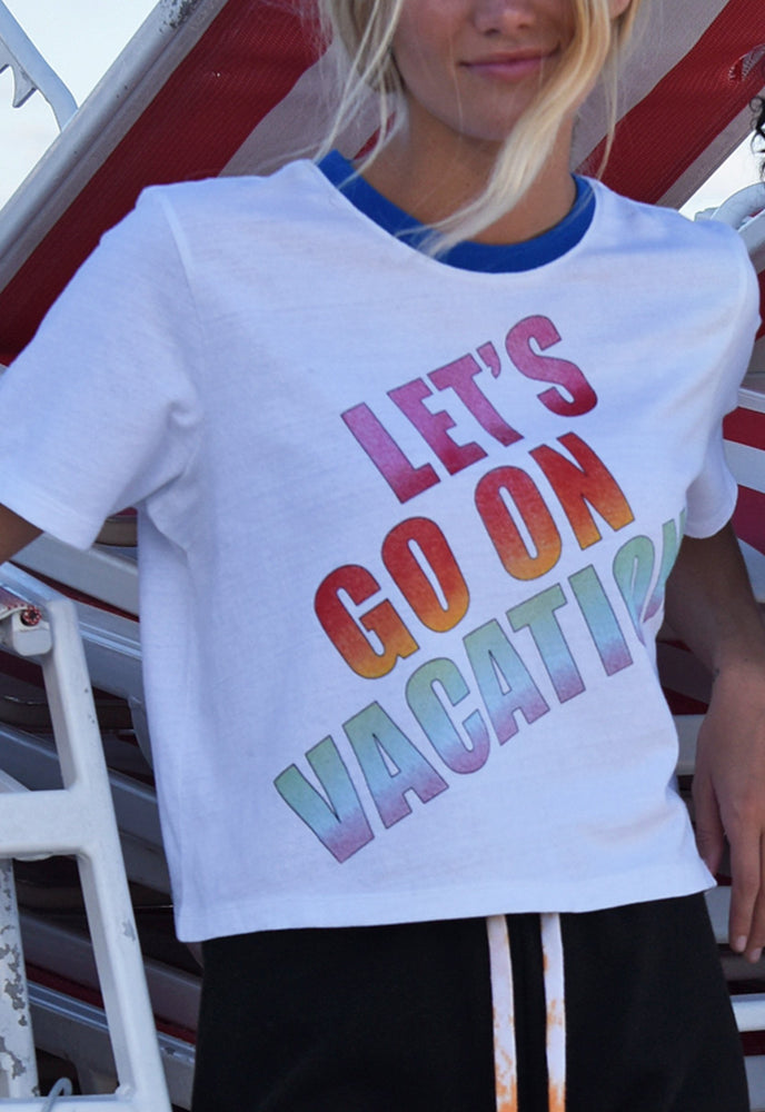 Let's Go On Vacation Tee