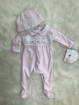 Magnolia Baby Smock Bunny Footie Take Me Home