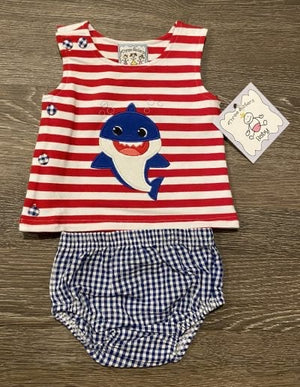 3 Sisters Baby Shark Diaper Set