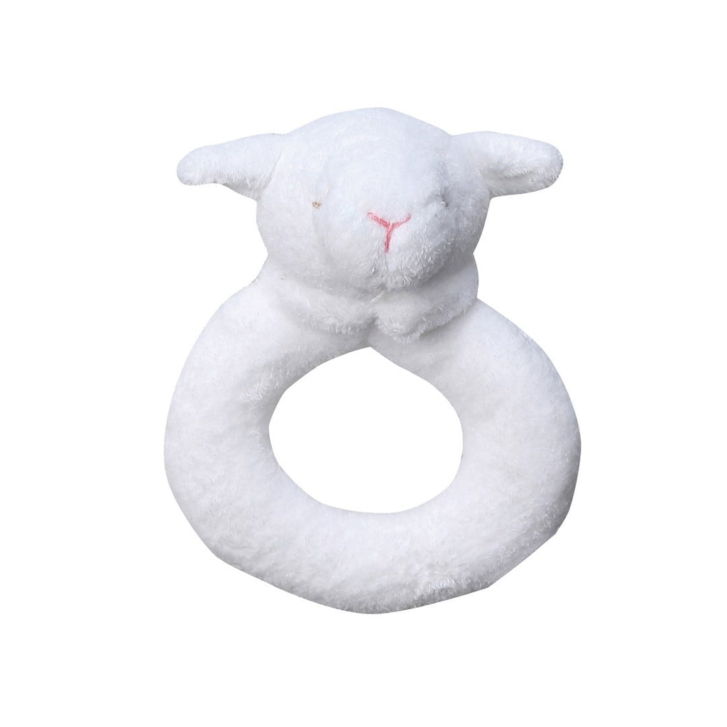 Angel dear lamb ring rattle
