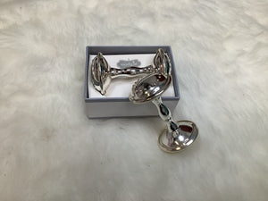 Mud Pie Silver Rattle
