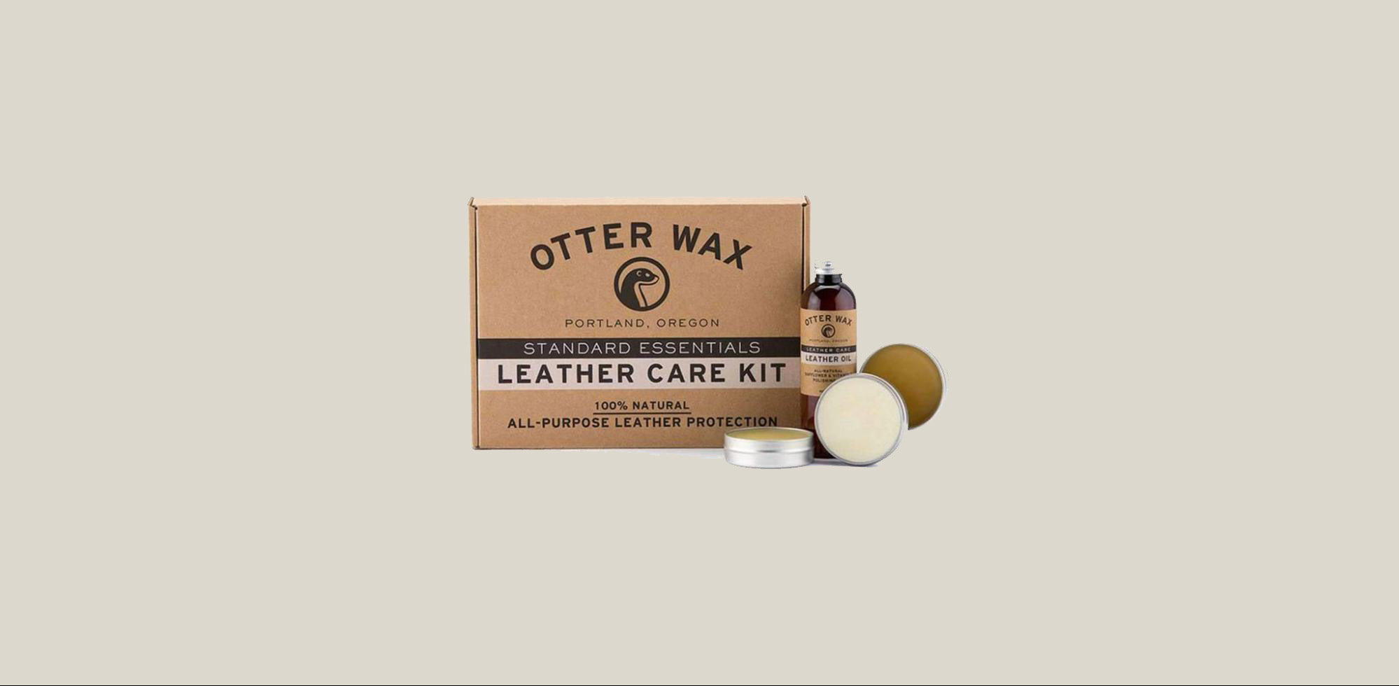 Apply leather wax