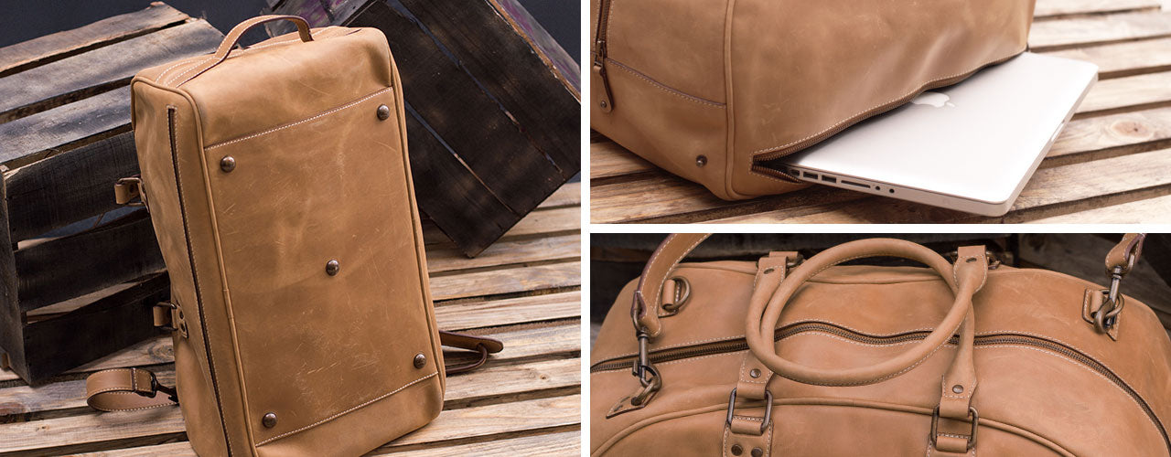 This Leather Duffel Travel Bag Is The Perfect Carry-on For Travelling!