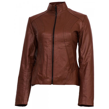 Classic Tan Brown Leather Jacket