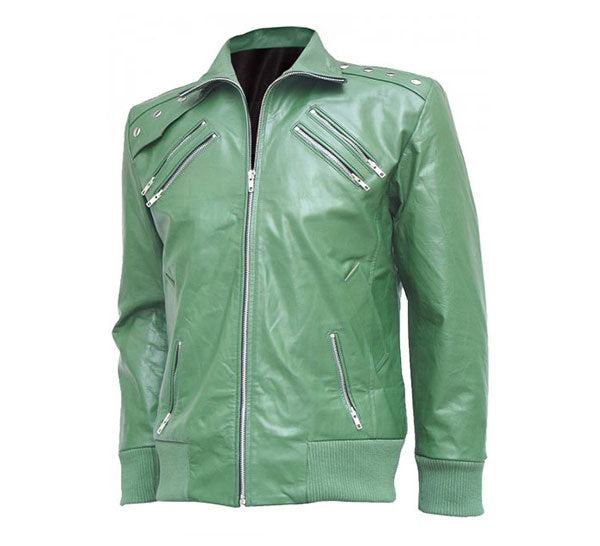 Bomber Jacket with Classical Biker Look