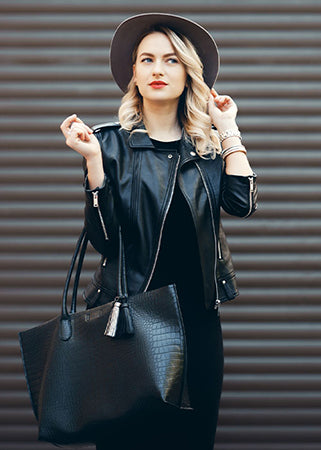 Leather Jacket With Dress