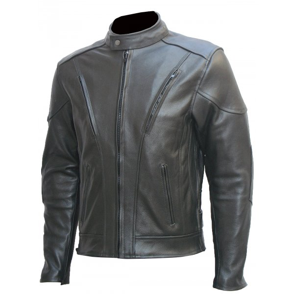 Clean Fitted Leather Motorcycle Jacket