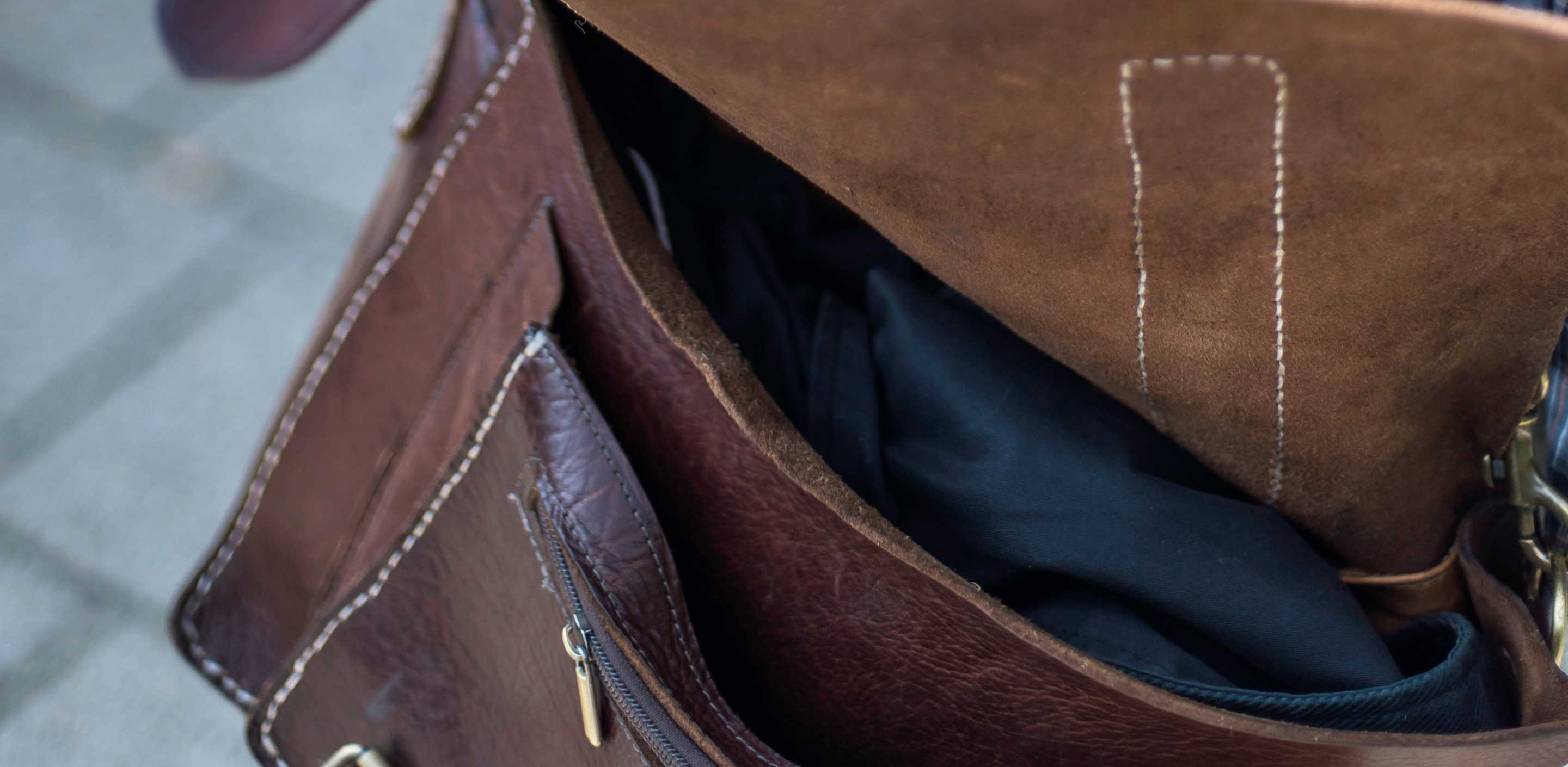 Clean Leather Bag