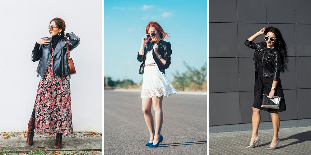 How To Wear A Leather Jacket With A Dress
