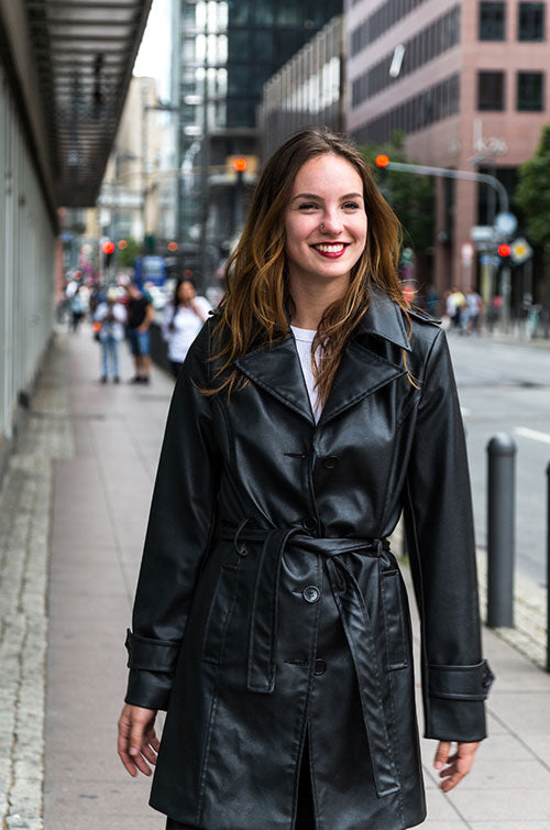 How To Wear A Trench Coat If You're Short
