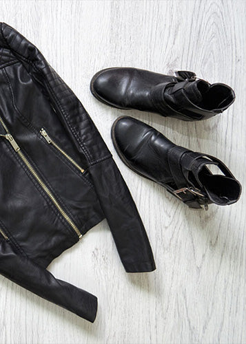 Matching Shoes With A Leather Jacket