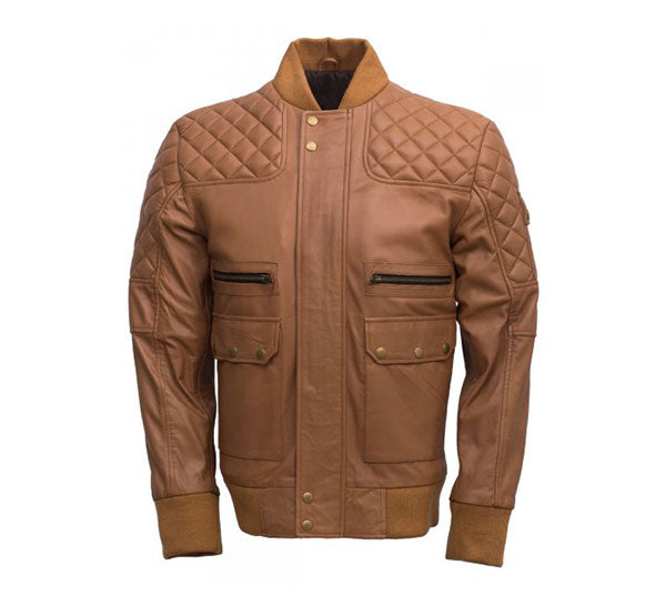 Bomber Jacket with Quilted Design