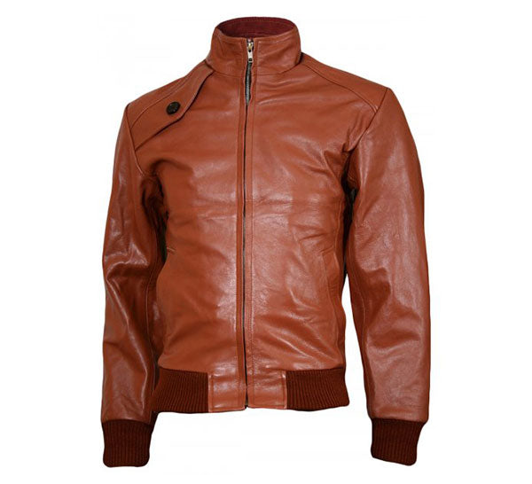 Bomber Jacket with Standing Collar