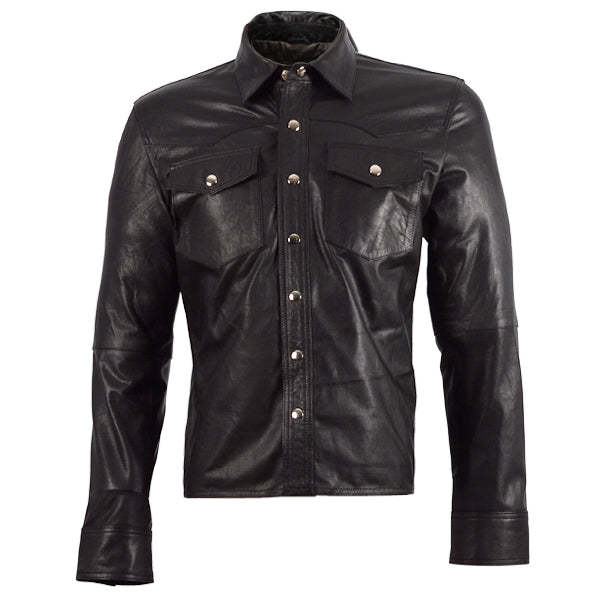 Summer Leather Shirt in Black