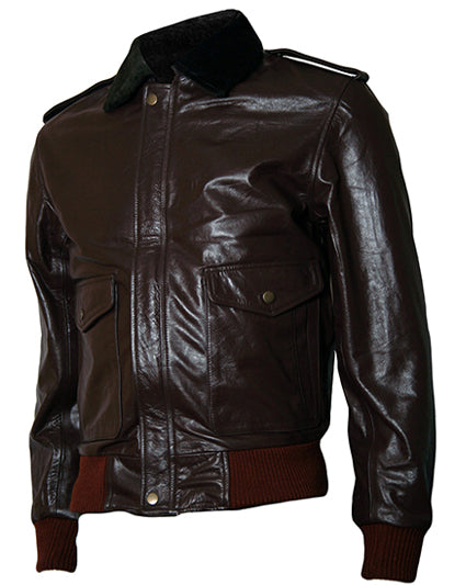 The Thing R. J. MacReady Brown Bomber Leather Jacket