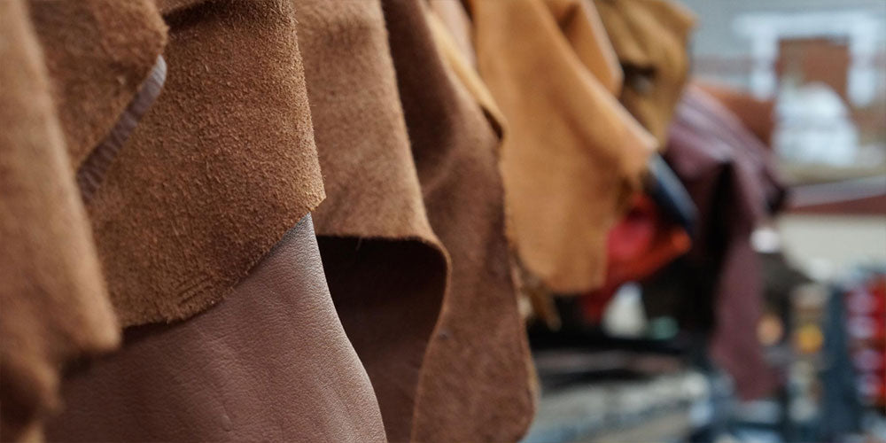 What is suede leather made of?