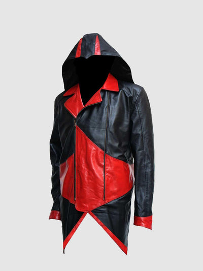 Assassin's Creed Connor Kenway Hoodie Leather Jacket - Leather Jacket Shop