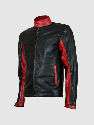 Biker Look Black Leather Batman Jacket - Leather Jacket Shop