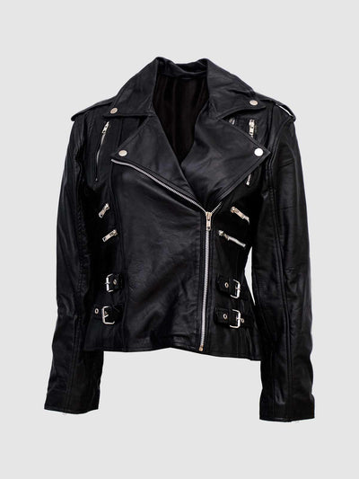 Black Biker Jacket for Women - Leather Jacket Shop