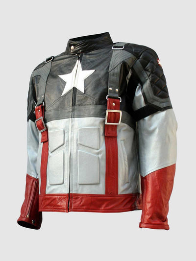 Captain America First Avenger Black Leather Jacket - Leather Jacket Shop
