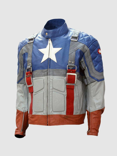 Captain America The First Avenger Leather Jacket - Leather Jacket Shop