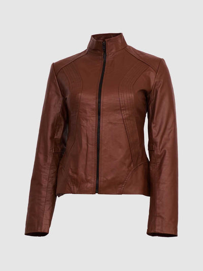 Classic Tan Brown Leather Jacket for Women - Leather Jacket Shop