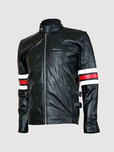 Deluxe Black Leather Men's Motorcycle Jacket - Leather Jacket Shop
