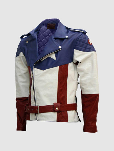 Designers Captain America Leather Jacket - Leather Jacket Shop